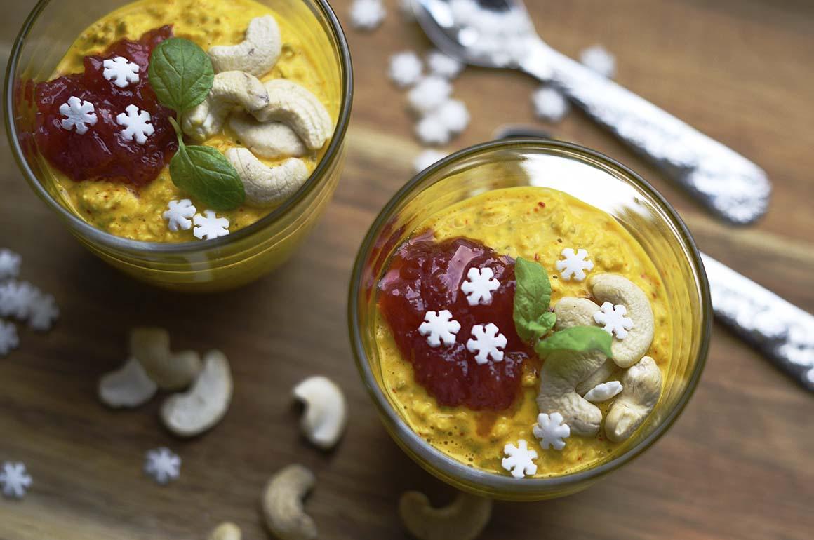 Overnight oats med saffran