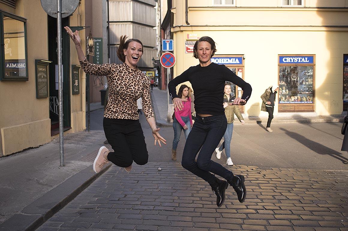 Prag Halvmaraton med Resia, Malin Ewerlöf & Petra Månström